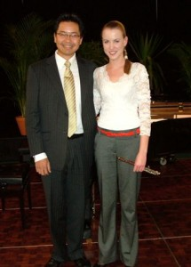 2nd Place – Kristine Healy (Piccolo) with Christian Gante (accompanist)