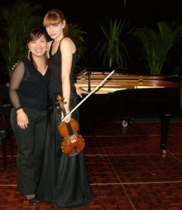 3rd Place – Claire Herrick (Violin)  with Misa Yamamoto (accompanist)