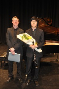 2nd Place – Sungpil Lee with Mitchell Leigh (accompanist)