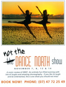 not the Dance North show 7,8,13,14 November 2004 - Scool of Arts Theatre sm