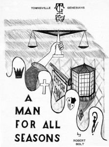 Townsville Genesians' A Man For All Seasons  (supplied by Bruce J. Dargie)