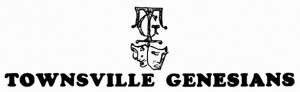 Townsville Genesians 1960's Logo  (supplied by Bruce J. Dargie)