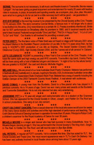 FOTT Variety Concert Sunday Delights 28 November 2004 - Sunday Arvo at Pimpac - Back of Flyer sm