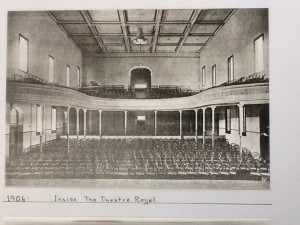 Inside the Theatre Royal in 1906