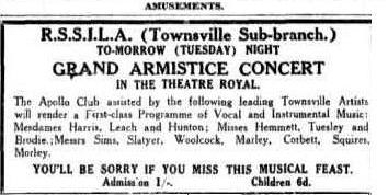 Apollo Club Concert advert TDB Mon 10 Nov 1930