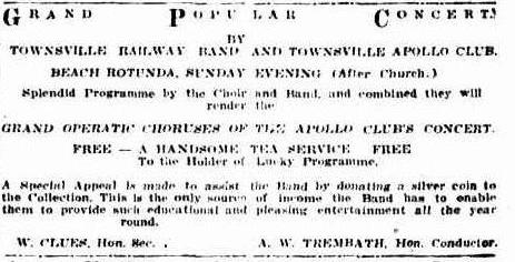Apollo Club Concert advert TDB Sat 21 Sep 1929
