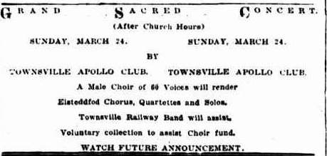 Apollo Club Concert advert TDB Wed 20 Mar 1929