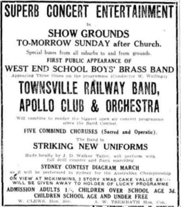 Apollo Club Showgrounds Concert 13 Dec 1930