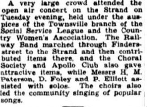 Apollo Club Strand concert Tues 18 Aug 1931review