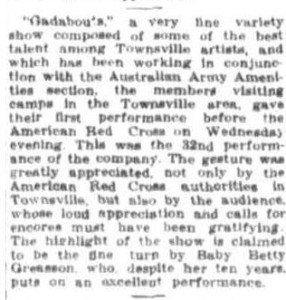 Gadabouts from Townsville Daily Bulletin Fri 13th Aug 1943