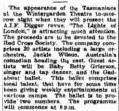 The Gadabouts were guest artists for a visiting wartime group in 1943. (Townsville Daily Bulletin Sat 30 Oct 1943)