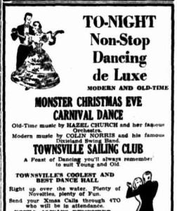 Christmas Eve dance advertisement (Townsville Daily Bulletin 24 Dec 1954)