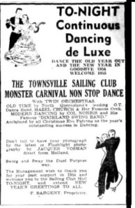Advert for New Years Eve dance (Townsville Daily Bulletin 31 Dec 1954)