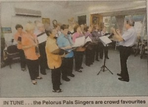 Pelorus Pals rehearsing February 2009 (Townsville Bulletin 24th Feb 2009)