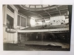 Wintergarden Theatre after it closed with the seats removed