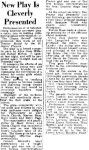 The Charm School review (Townsville Daily Bulletin Wed 12 Nov 1952)