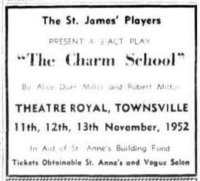 The Charm School advert (Townsville Daily Bulletin Sat 18 Oct 1952)