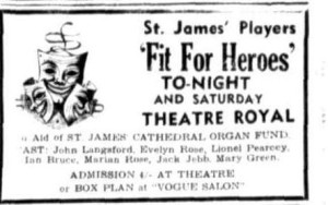 Fit For Heros advert Townsville Daily Bulletin Fri 8 May 1953