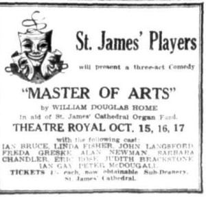 """Master of Arts"" advert Townsville Daily Bulletin Thurs 1 Oct 1953"