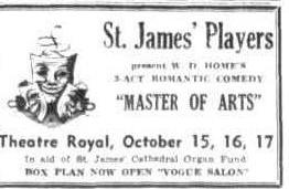 """Master of Arts"" advert Townsville Daily Bulletin Thurs 8 Oct 1953"