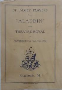 "St James Players ""Aladdin"" programme 1956"
