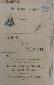 "St James Players ""Book Of The Month"" programme 1960"