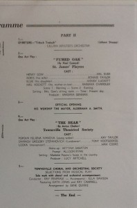 St James Players Fumed Oak Theatre Royal re-opening programme page 3 1961