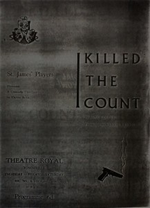 """St James Players """"I Killed The Count"""" programme 1963"""