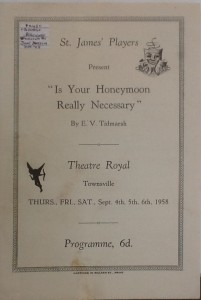 "St James Players ""Is Your Honeymoon Really Necessary"" programme 1958"