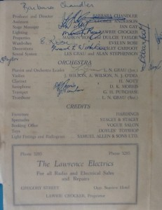 """St James Players """"Lord Babs"""" programme page 1 1955"""