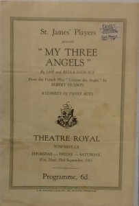 "St James Players ""My Three Angels"" programme 1961"