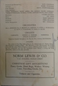 """St James Players """"Night Must Fall"""" programme page 2 1958"""