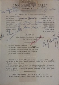 """St James Players """"Night Must Fall"""" programme page 3 1958"""