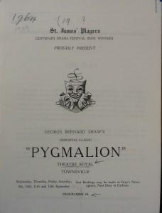 "St James Players ""Pygmalion"" programme 1959"