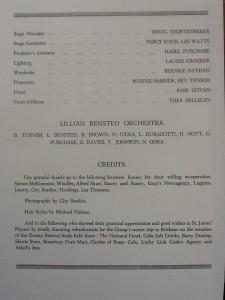 "St James Players ""Pygmalion"" programme page 3 1959"