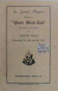 """Quiet Week-End"" programme 1955"