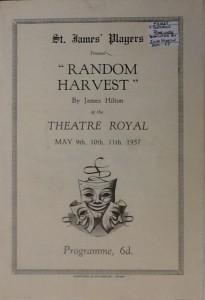 "St James Players ""Random Harvest"" programme 1957"