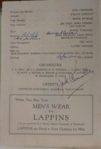 "St James Players ""Random Harvest"" programme page 2 1957"
