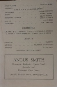 """St James Players """"Rebecca"""" programme page 2 1956"""