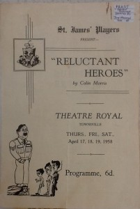 "St James Players ""Reluctant Heroes"" programme 1958"