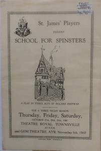 "St James Players ""School For Spinsters"" programme 1960"