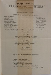 "St James Players ""School For Spinsters"" programme page 3 1960"