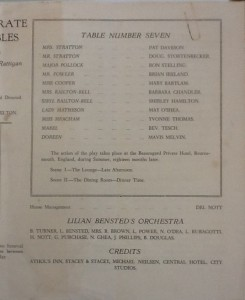 "St James Players ""Separate Tables"" programme page 3 1959"