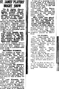 Fit For Heros review Townsville Daily Bulletin Fri 8 May 1953