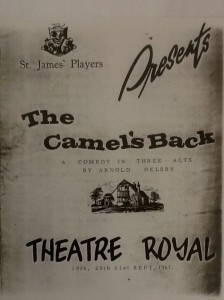 "St James Players ""The Camel's Back"" programme 1963"