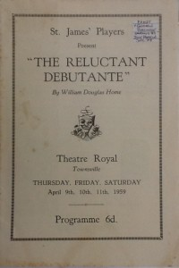 "St James Players ""The Reluctant Debutante"" programme 1959"