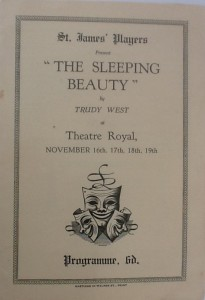 "St James Players ""The Sleeping Beauty"" programme 1955"