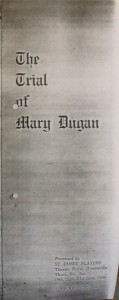 "St James Players ""The Trial of Mary Dugan"" programme 1958"