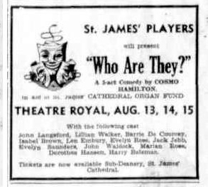 """Who Are They"" advert Townsville Daily Bulletin Wed 29 Jul 1953"