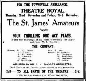 Four one-act plays advertisement (Townsville Daily Bulletin Sat 17 Nov 1928)